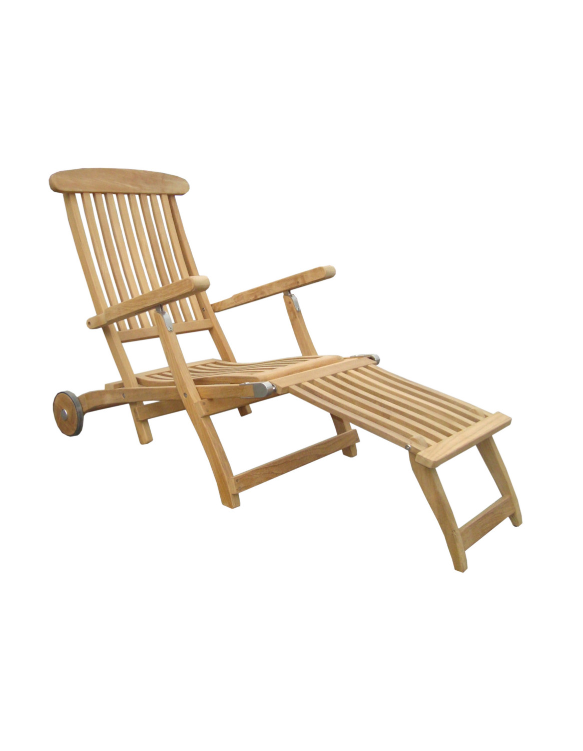 deckchair liege bueno mit rollen abnehmbaren fu teil teak dippold gartenm bel. Black Bedroom Furniture Sets. Home Design Ideas
